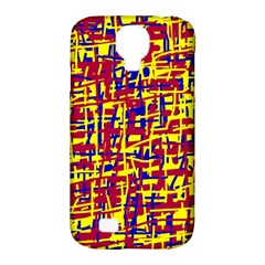 Red, Yellow And Blue Pattern Samsung Galaxy S4 Classic Hardshell Case (pc+silicone) by Valentinaart