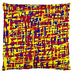 Red, Yellow And Blue Pattern Standard Flano Cushion Case (two Sides) by Valentinaart
