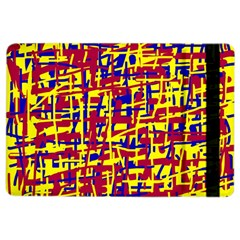 Red, Yellow And Blue Pattern Ipad Air 2 Flip by Valentinaart