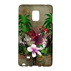 Wonderful Tropical Design With Palm And Flamingo Galaxy Note Edge by FantasyWorld7