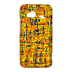 Yellow, orange and blue pattern HTC Droid Incredible 4G LTE Hardshell Case by Valentinaart