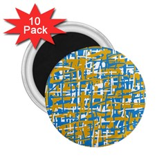 Blue And Yellow Elegant Pattern 2 25  Magnets (10 Pack)  by Valentinaart