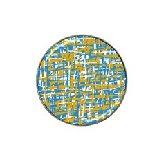 Blue And Yellow Elegant Pattern Hat Clip Ball Marker by Valentinaart