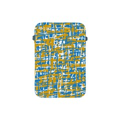 Blue And Yellow Elegant Pattern Apple Ipad Mini Protective Soft Cases by Valentinaart
