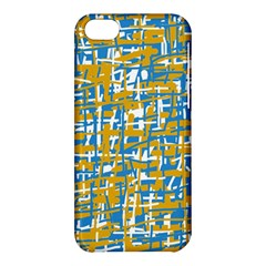 Blue And Yellow Elegant Pattern Apple Iphone 5c Hardshell Case by Valentinaart