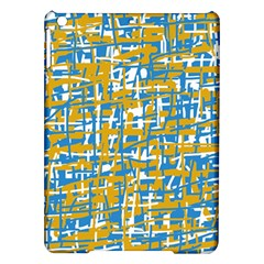 Blue And Yellow Elegant Pattern Ipad Air Hardshell Cases by Valentinaart