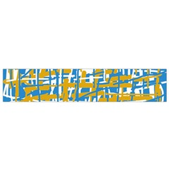 Blue And Yellow Elegant Pattern Flano Scarf (small) by Valentinaart