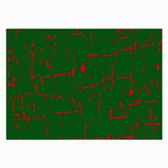 Green And Red Pattern Large Glasses Cloth