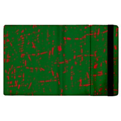 Green And Red Pattern Apple Ipad 2 Flip Case by Valentinaart