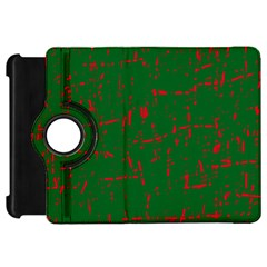 Green And Red Pattern Kindle Fire Hd Flip 360 Case by Valentinaart