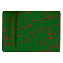 Green And Red Pattern Samsung Galaxy Tab 10 1  P7500 Flip Case by Valentinaart