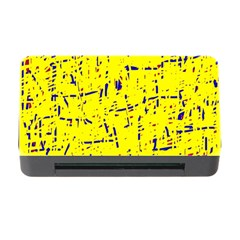 Yellow Summer Pattern Memory Card Reader With Cf by Valentinaart