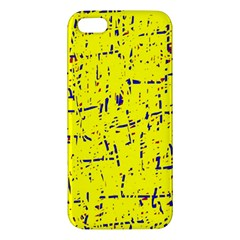 Yellow Summer Pattern Apple Iphone 5 Premium Hardshell Case by Valentinaart
