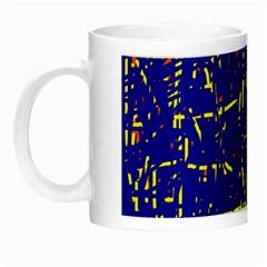 Blue Pattern Night Luminous Mugs by Valentinaart