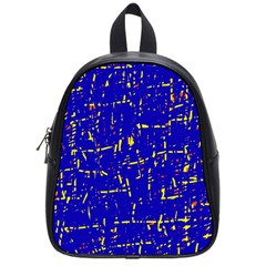 Blue Pattern School Bags (small)  by Valentinaart