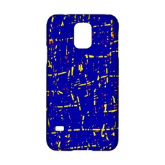 Blue Pattern Samsung Galaxy S5 Hardshell Case  by Valentinaart