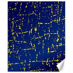 Deep Blue And Yellow Pattern Canvas 16  X 20   by Valentinaart