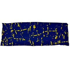 Deep Blue And Yellow Pattern Body Pillow Case Dakimakura (two Sides) by Valentinaart