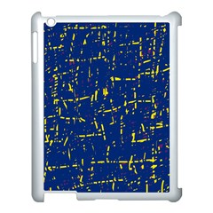 Deep Blue And Yellow Pattern Apple Ipad 3/4 Case (white) by Valentinaart