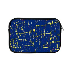 Deep Blue And Yellow Pattern Apple Ipad Mini Zipper Cases by Valentinaart