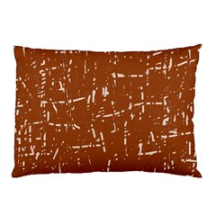 Brown Elelgant Pattern Pillow Case (two Sides) by Valentinaart