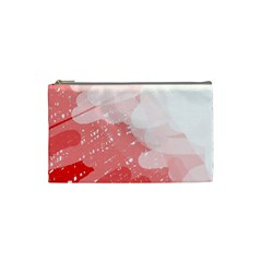 Red Pattern Cosmetic Bag (small)  by Valentinaart
