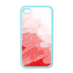 Red Pattern Apple Iphone 4 Case (color) by Valentinaart