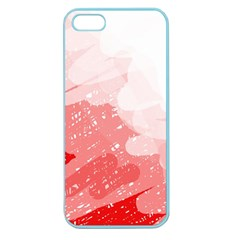 Red Pattern Apple Seamless Iphone 5 Case (color) by Valentinaart