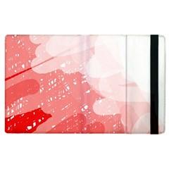 Red Pattern Apple Ipad 2 Flip Case by Valentinaart