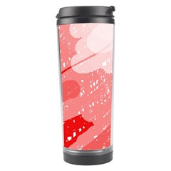 Red Pattern Travel Tumbler by Valentinaart