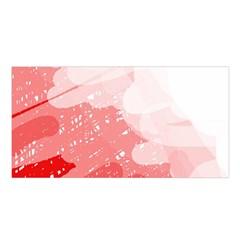 Red Pattern Satin Shawl by Valentinaart