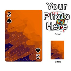 Orange And Blue Artistic Pattern Playing Cards 54 Designs