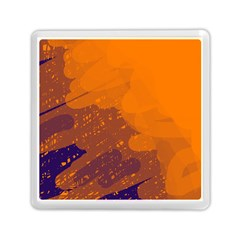 Orange And Blue Artistic Pattern Memory Card Reader (square)  by Valentinaart