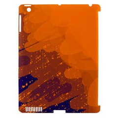 Orange And Blue Artistic Pattern Apple Ipad 3/4 Hardshell Case (compatible With Smart Cover) by Valentinaart