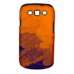 Orange And Blue Artistic Pattern Samsung Galaxy S Iii Classic Hardshell Case (pc+silicone) by Valentinaart