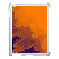Orange And Blue Artistic Pattern Apple Ipad 3/4 Case (white) by Valentinaart