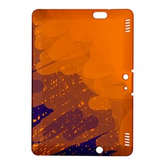 Orange And Blue Artistic Pattern Kindle Fire Hdx 8 9  Hardshell Case by Valentinaart