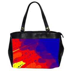 Colorful Pattern Office Handbags (2 Sides)  by Valentinaart