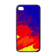 Colorful Pattern Apple Iphone 4 Case (black) by Valentinaart