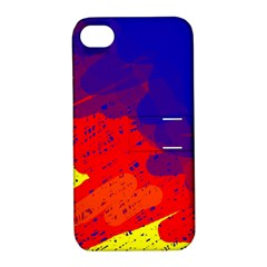 Colorful Pattern Apple Iphone 4/4s Hardshell Case With Stand by Valentinaart
