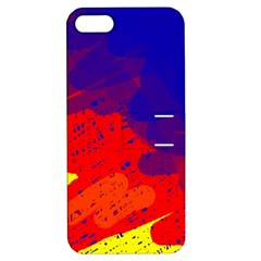 Colorful Pattern Apple Iphone 5 Hardshell Case With Stand by Valentinaart