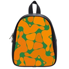 Orange Shapes                                                                                        			school Bag (small) by LalyLauraFLM