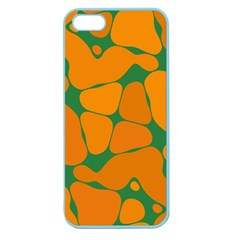 Orange Shapes                                                                                       			apple Seamless Iphone 5 Case (color) by LalyLauraFLM