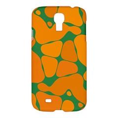 Orange Shapes                                                                                       samsung Galaxy S4 I9500/i9505 Hardshell Case by LalyLauraFLM