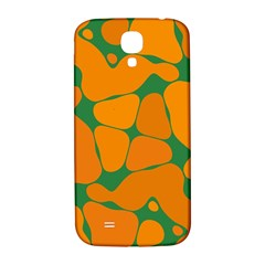 Orange Shapes                                                                                       			samsung Galaxy S4 I9500/i9505 Hardshell Back Case by LalyLauraFLM