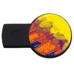 Colorful Abstract Pattern Usb Flash Drive Round (2 Gb)  by Valentinaart