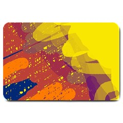 Colorful Abstract Pattern Large Doormat  by Valentinaart