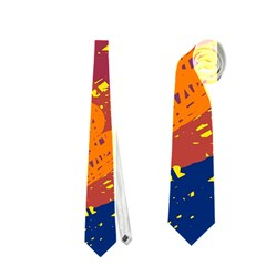 Colorful Abstract Pattern Neckties (one Side)  by Valentinaart