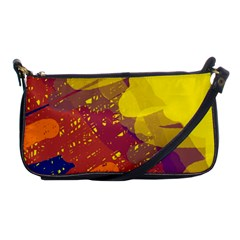 Colorful abstract pattern Shoulder Clutch Bags by Valentinaart