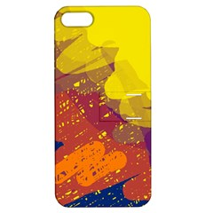 Colorful Abstract Pattern Apple Iphone 5 Hardshell Case With Stand by Valentinaart